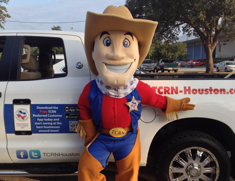 "Kids love ""Tex"", the TCRN Mascot"